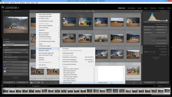 Adobe Lightroom, Preset Stapelverarbeitung