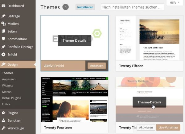 WordPress Theme-Details