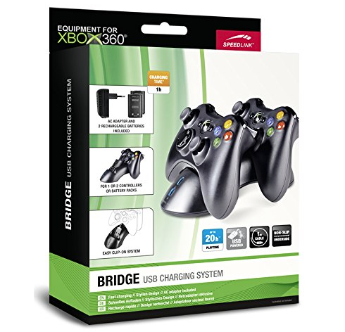 Xbox-360-Speedlink-Bridge-Ladestation-für-Controller