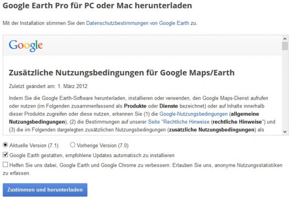 Google Earth PRO bislang 399USD nun GRATIS