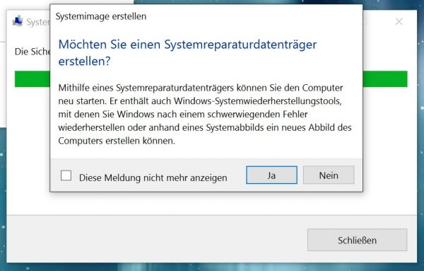 Windows-10-Systemreparaturdatentrtäger