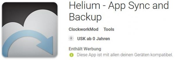 Android Helium - App Sync and Backup