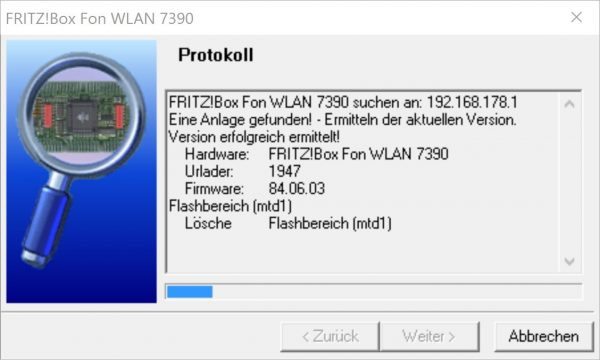 FritzBox Firmware flashen