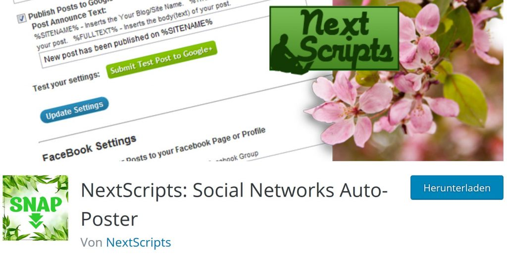 NextScripts: Social Networks Auto Poster