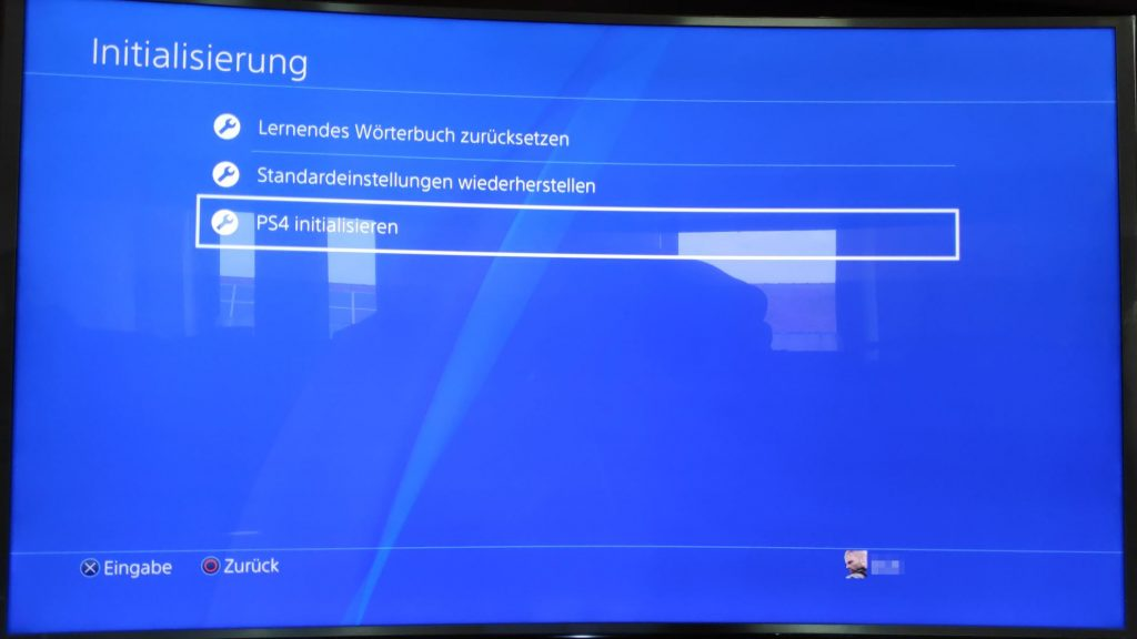 PS4 Initialisierung