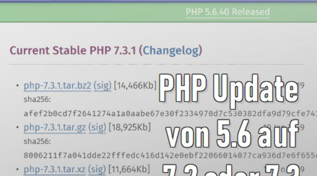 PHP Versions-Update