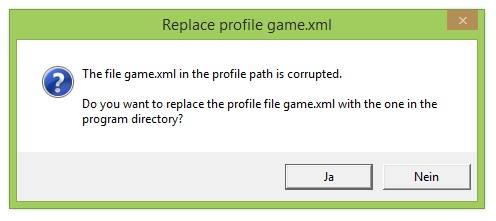 LS19 file game.xml in the profile path is corrupted